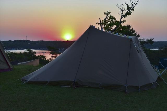 夕方のソロキャンプ2