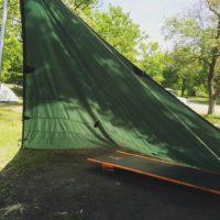 ソロキャンプで使うタープを大きめのサイズを選ぶメリット・デメリット!