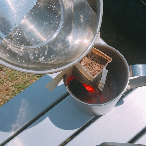 セリアシェラカップでコーヒー (7)