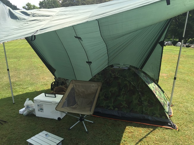 ソロキャンプのDDタープ