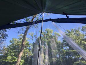 DDタープに蚊帳