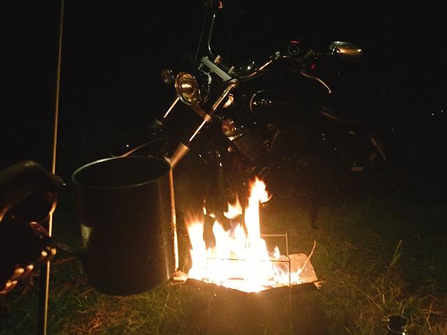 夜の初キャンプツーリング! (10)