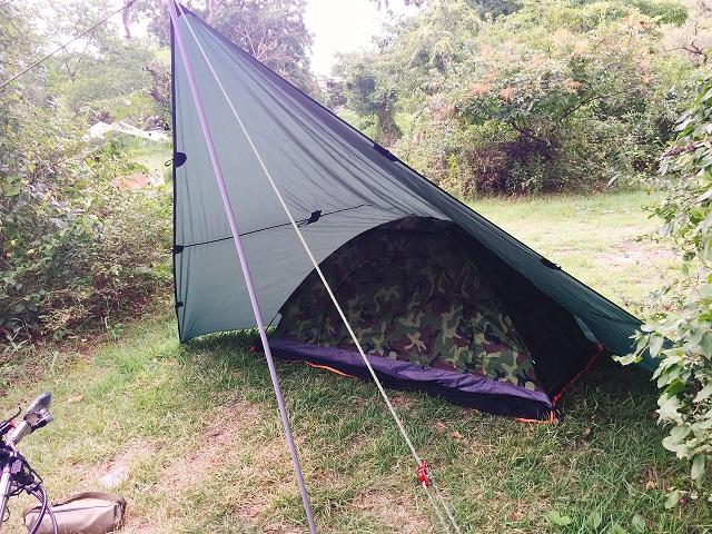 初キャンプツーリング