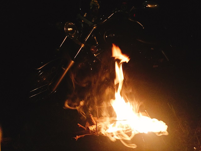 夜の初キャンプツーリング! (9)
