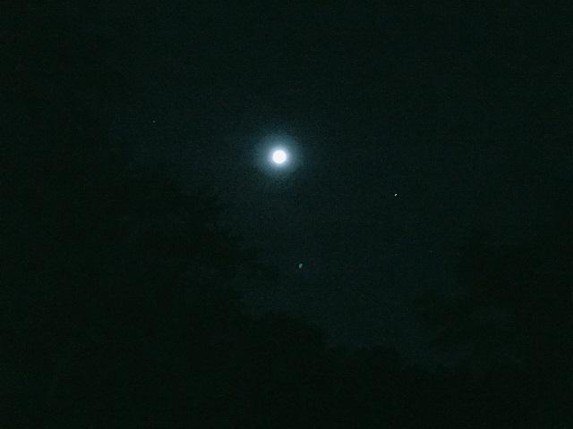 Aフレームでソロキャンプ夜