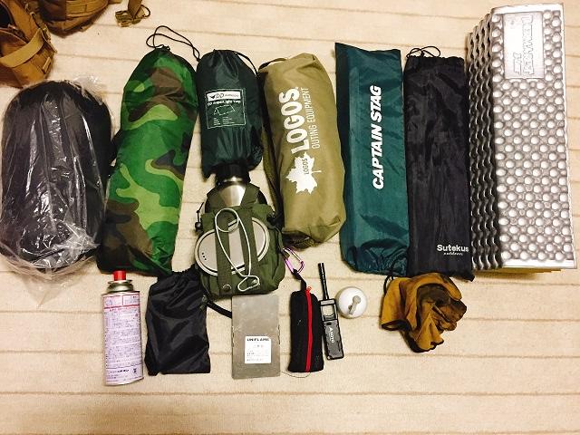 ソロキャンプ最低限装備1