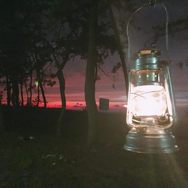 フュアーハンドランタンのと夕日