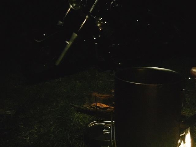 夜の初キャンプツーリング! (7)
