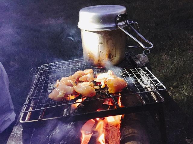焚き火台を使った調理