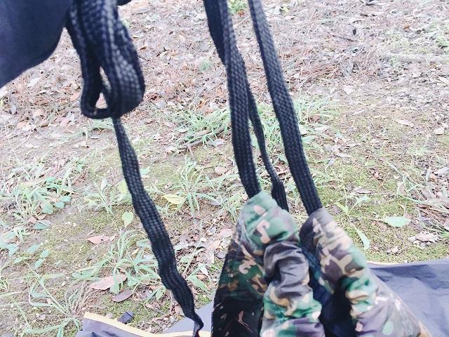 DDハンモックのロープ