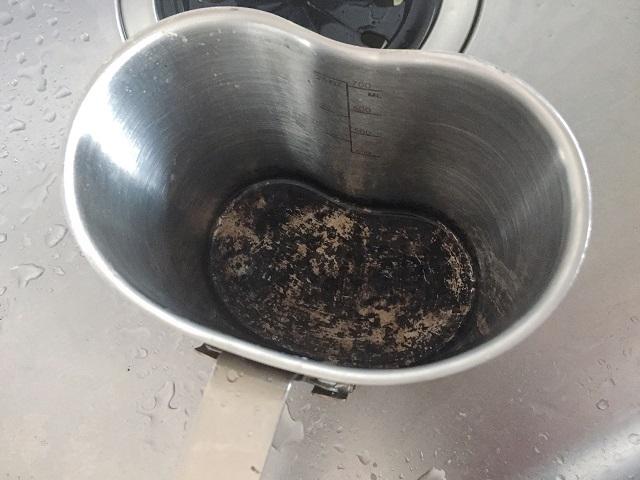 キャンティーンカップの炊飯