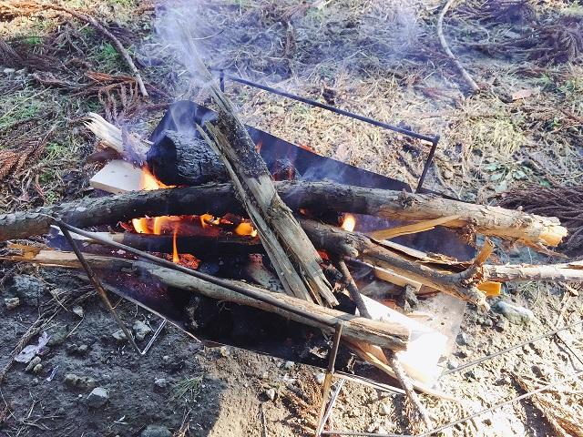 焚き火の処理
