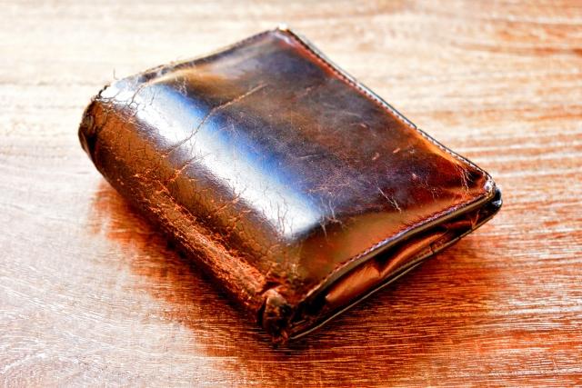 使い古された財布1