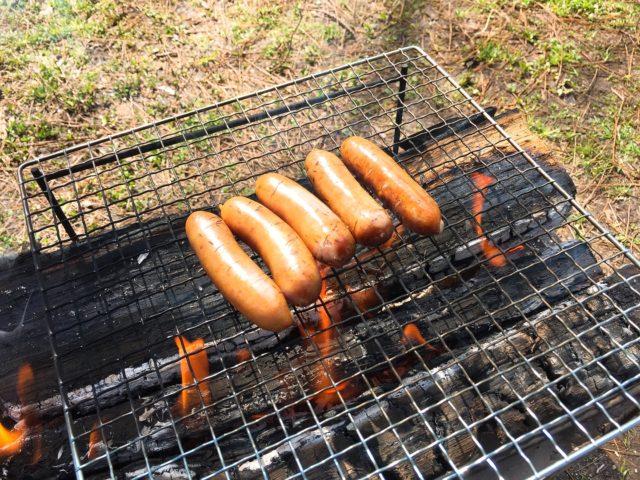 キャンプで焚き火料理 (1)