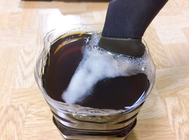 モーラナイフの黒錆加工 (9)