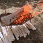 焚き火で調理 (1)