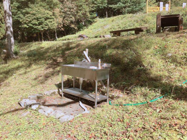 杉ヶ平キャンプ場の水場