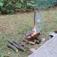 ブッシュクラフト気分を味わう秋キャンプの焚き火!リフレクターの自作もやってみた!