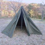 ポンチョテントでキャンプ