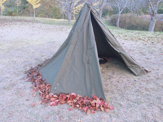 ポンチョテントでキャンプのはずが (23)