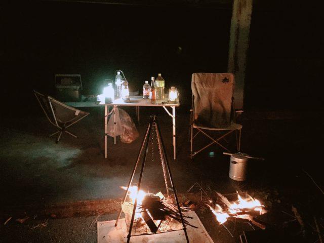 ポンチョテントでキャンプのはずが (27)