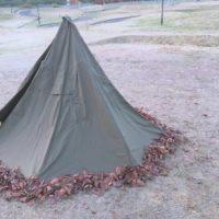 初のポーランド軍幕を使った秋キャンプ!しかし思わぬ事態に!?