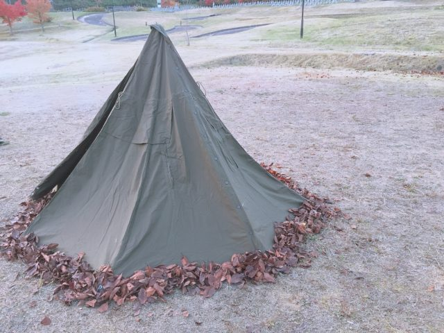 ポンチョテントでキャンプのはずが (22)