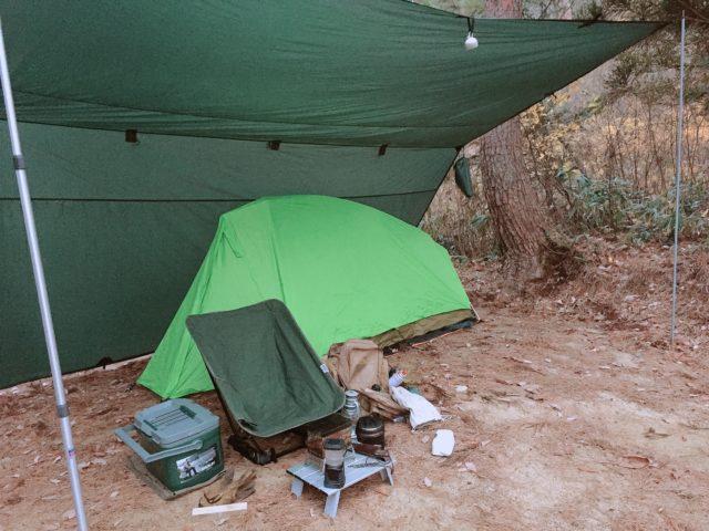 DDタープで雨ソロキャンプ