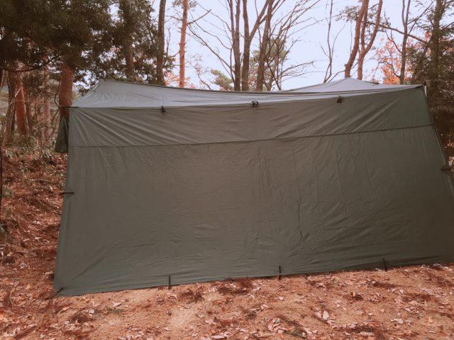 DDタープで雨キャンプ (11)