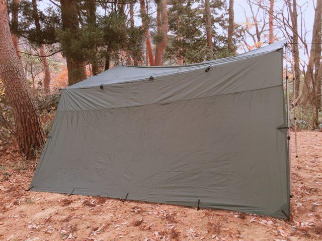 DDタープで雨キャンプ (12)