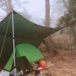 DDタープで雨ソロキャンプ!