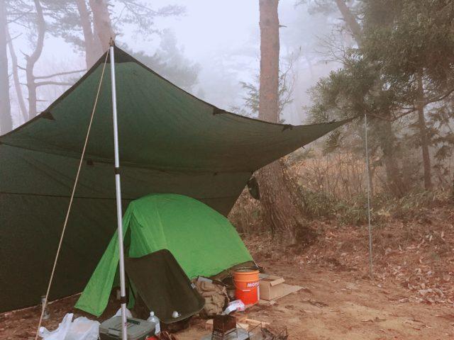 DDタープで雨キャンプ (32)