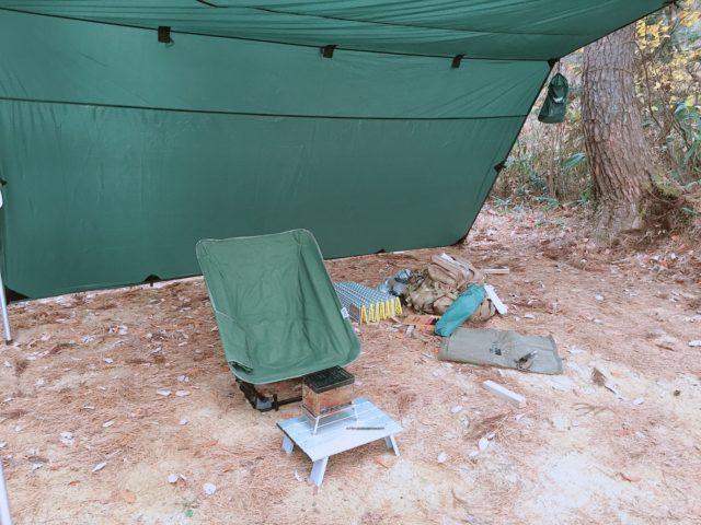 DDタープで雨キャンプ (10)
