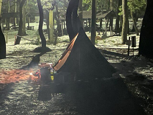 初の雪中キャンプ (10)