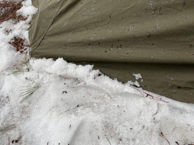 初の雪中ソロキャンプ (8)