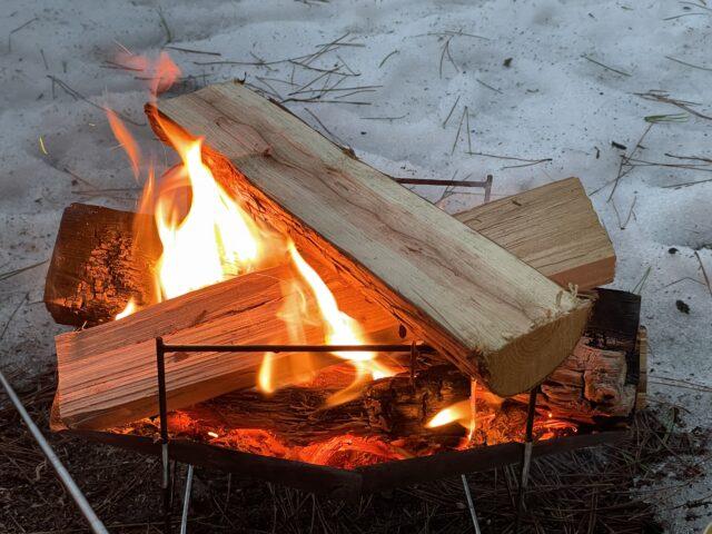 初の雪中ソロキャンプ (24)