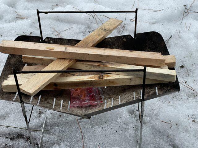 初の雪中ソロキャンプ (17)