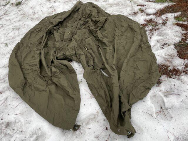 初の雪中ソロキャンプ (1)