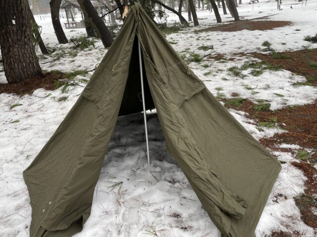 初の雪中ソロキャンプ (3)