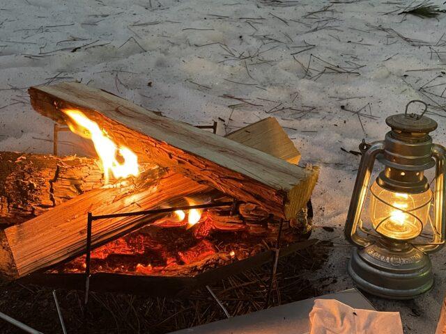 初の雪中ソロキャンプ (29)