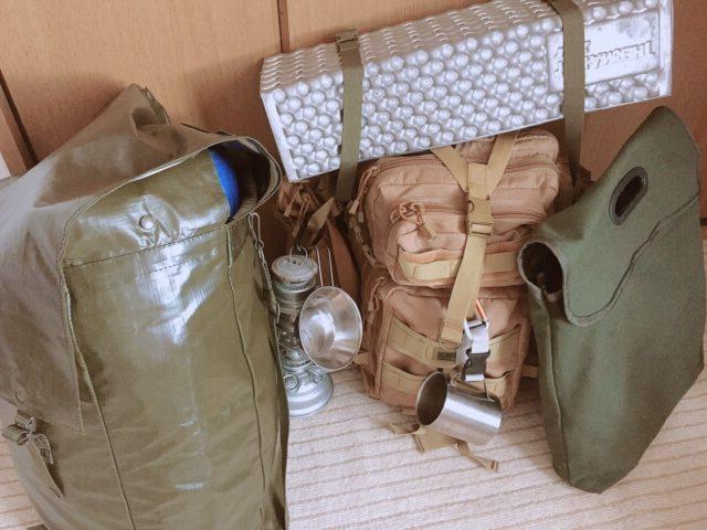 準備したキャンプ道具達