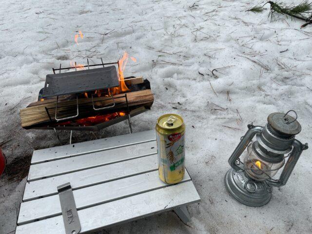 ヒロシ鉄板で冬キャンプ