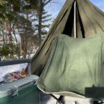 2回目の雪中ソロキャンプの様子