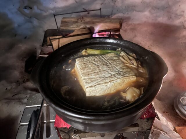 土鍋ですき焼き (31)