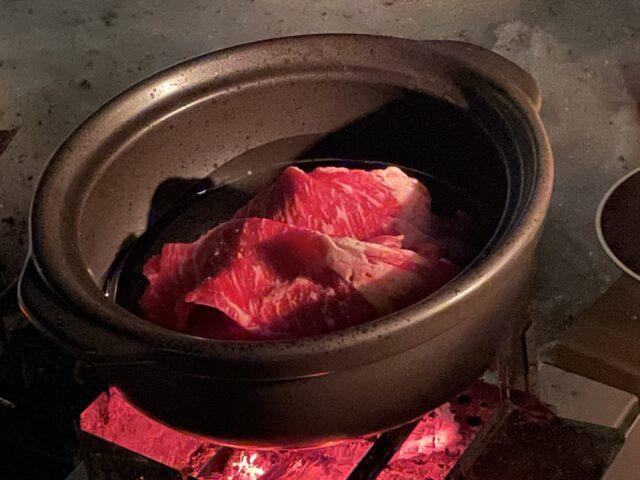 土鍋ですき焼き (12)