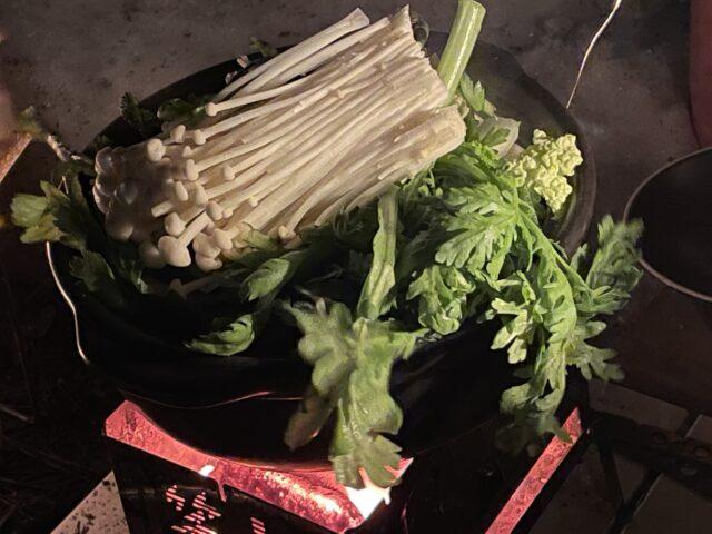土鍋ですき焼き (14)