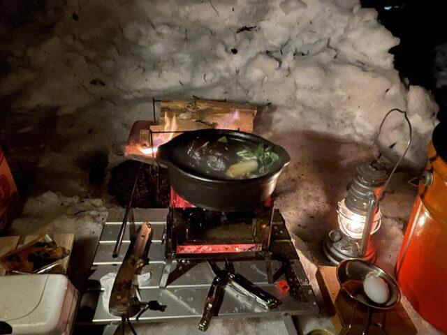 b-6君で土鍋ですき焼き