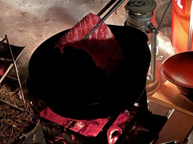 土鍋ですき焼き (11)