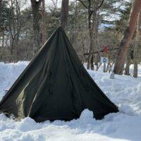 ポーランド軍のポンチョテントで2度目の雪上ソロキャンプを敢行!