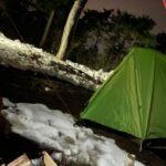 キャンプ連泊初日の様子